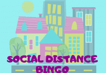 An image of a social distancing bingo card