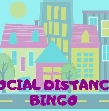 An image of a social distancing bingo card