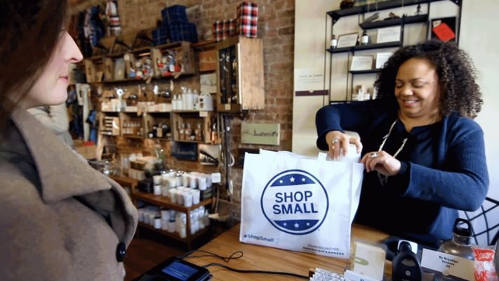 An image of shopping small. How you can support small businesses in the Iowa City area during COVID-19.