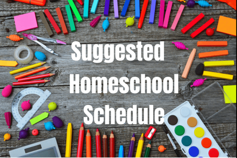 Try this Homeschool Schedule (Created by a Teacher) During Quarantine