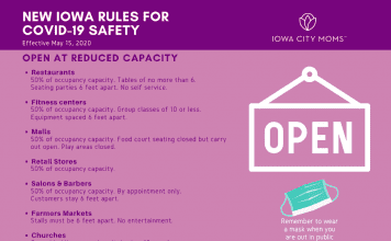 A guide explaining what is reopening in the state of Iowa