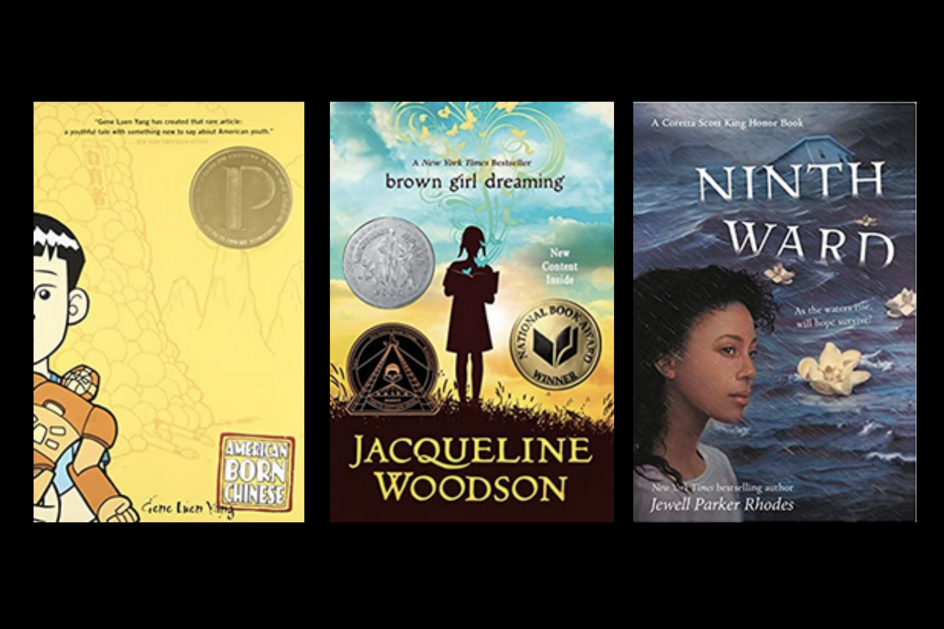 An image of tween book titles about racism