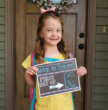 First day of kindergarten during a pandemic.