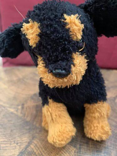 black and tan stuffed dog