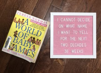 An image of a baby name book