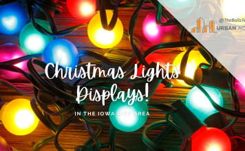 christmas lights displays in the Iowa City area
