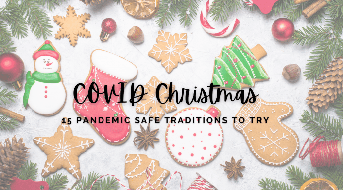 15 safe covid christmas traditions graphic