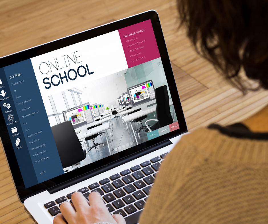 an online school teacher working