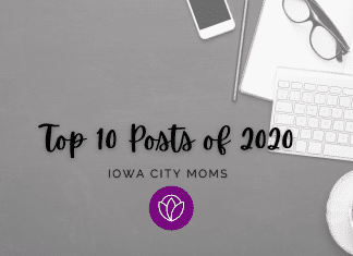 Top Ten Iowa City Moms' Posts of 2020