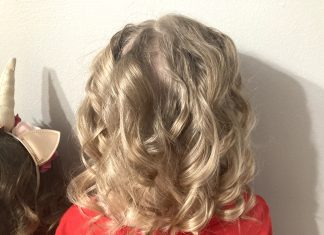 A hair style that used Magic Hair Curlers