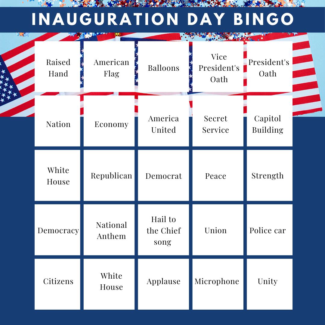 Inauguration Day BINGO