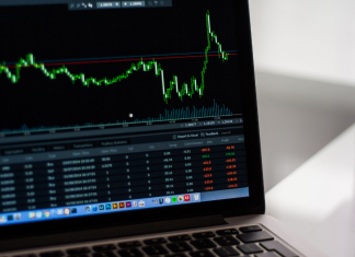 An image of stocks on a computer: advice for entering the stock market