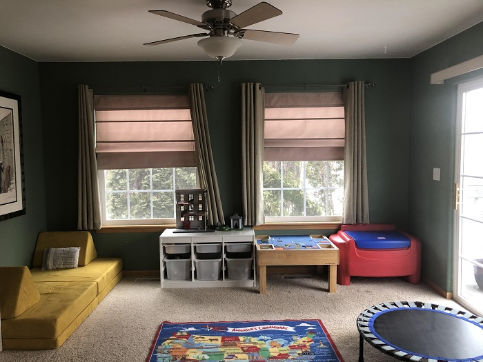A beautifully, clean playroom