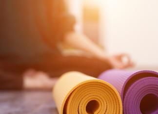 photo: yoga and yoga mats in the Iowa City area