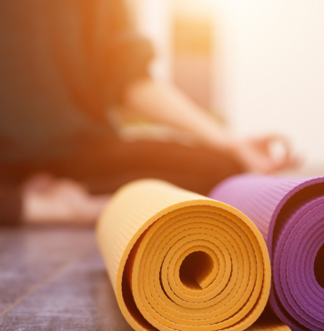 photo: yoga and yoga mats in the Iowa City area