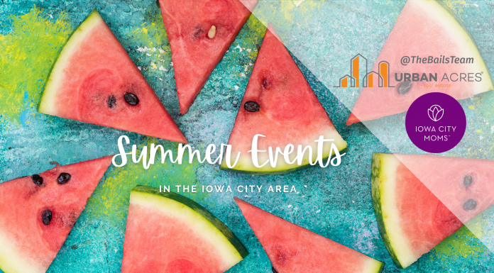 graphic: summer events in the Iowa City area