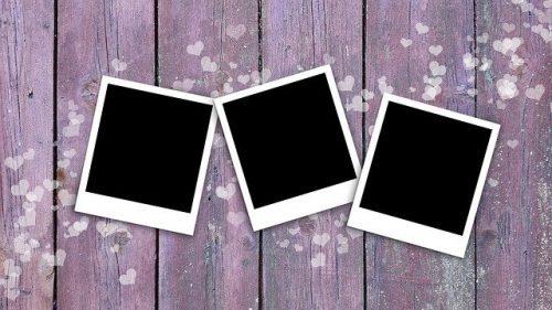 blank polaroid photos