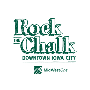 Rock the Chalk Downtown Iowa City logo
