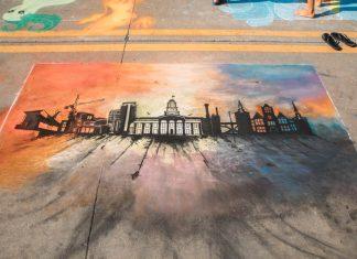 Rock the Chalk Downtown Iowa City