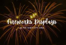 Fireworks in the Iowa City area