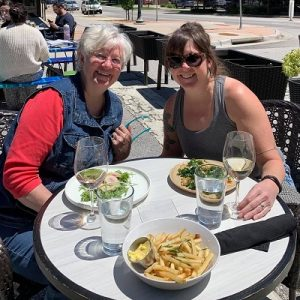 Outdoor dining in the Iowa City area