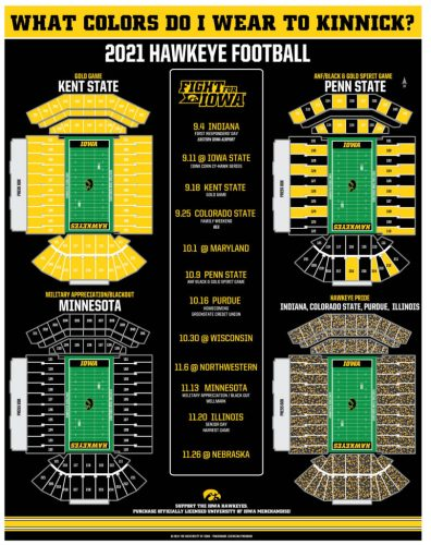Graphic: What colors do I wear to Kinnick Stadium 2021