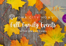 Fall Family Events in the Iowa City Area graphic